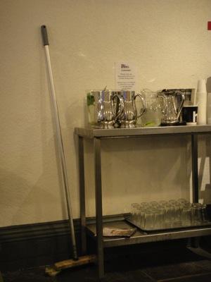 DublinModernArtMuseumDrinkCartWithBroom