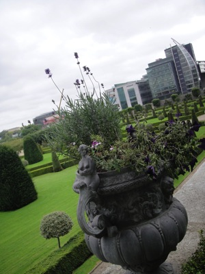 DublinModernArtMuseumGardensNewBuildingsWithFlowerPot